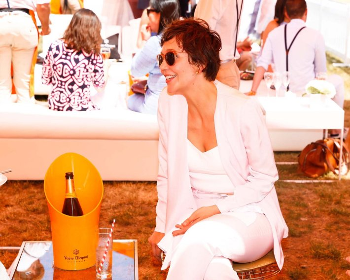 Maggie Gyllenhaal attends the Eighth-Annual Veuve Clicquot Polo Classic at Liberty State Park