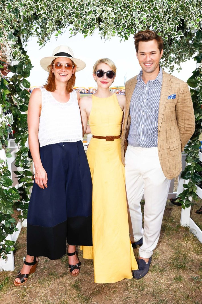 Ruth Wilson, Emma Roberts and  Andrew Rannells attend the Eighth-Annual Veuve Clicquot Polo Classic at Liberty State Park