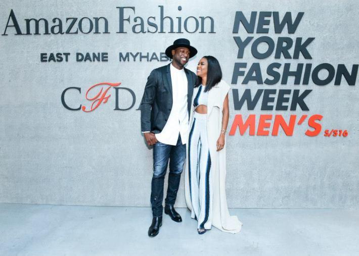 Gabrielle Union,  Dwyane Wade attend Amazon Fashion Kicks Off New York Fashion Week Men's 2015