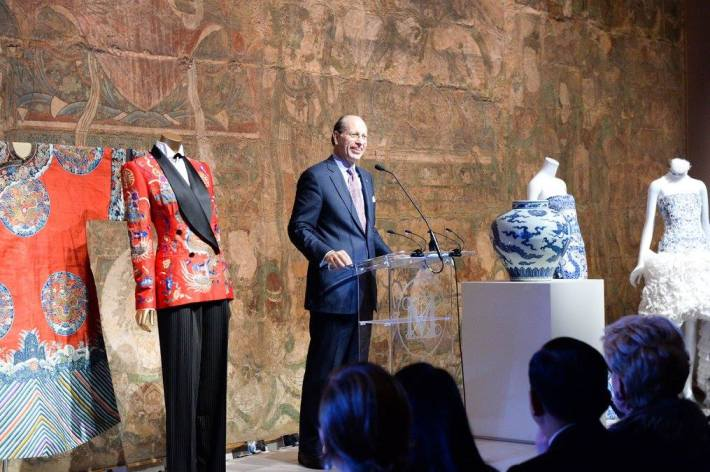 Maxwell K. Hearn, Douglas Dillon Chairman of the Asian Art Department at China: Through the Looking Glass Exhibition at The Metropolitan Museum of Art