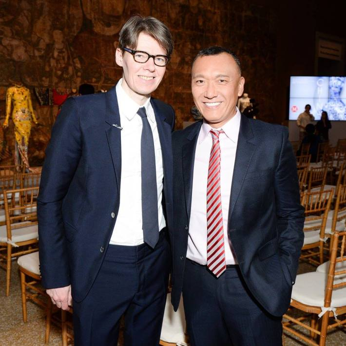 Andrew Bolton, Joe Zee at China: Through the Looking Glass Exhibition at The Metropolitan Museum of Art