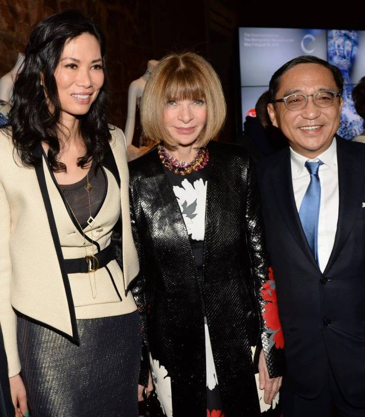 Wendi Murdoch, Anna Wintour, Silas Chou at China: Through the Looking Glass Exhibition at The Metropolitan Museum of Art