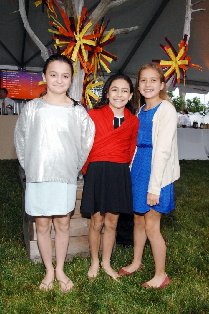 Charlotte Tyrone, Ellie Diamond, Sophia Springe attend The Boys & Girls Club of Bellport's 12th Annual Beach Ball (Photo - Liam McMullan)
