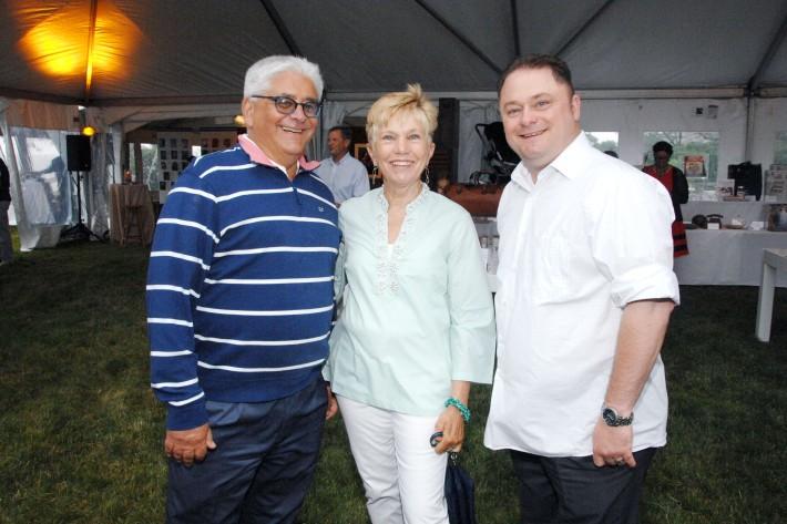 Joel Hershey, Diane Braun, Joe Perillo attend The Boys & Girls Club of Bellport's 12th Annual Beach Ball (Photo - Liam McMullan)
