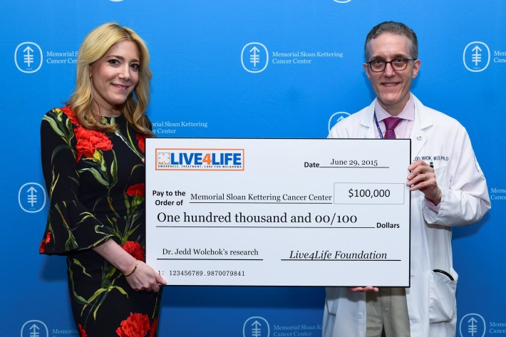 Melissa Breitbart, Dr. Jedd D. Wolchok attends The Live4Life Foundation Honored By Memorial Sloan Kettering (Photo by Sean Zanni)