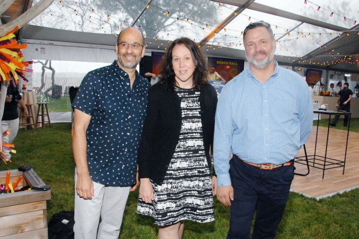 Barry Podgorsky, Tracie Romandetti, Carl Hedin attend The Boys & Girls Club of Bellport's 12th Annual Beach Ball (Photo - Liam McMullan)