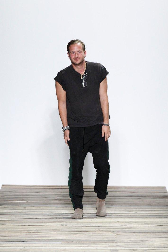 Robert Geller - New York Fashion Week: Men's Sring/Summer 2016 at Skylight Clarkson Sq  (Photo by GerardoSomoza)