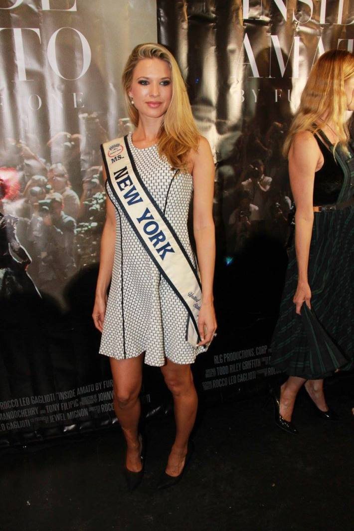 Miss New York Micole Kulovany attends 'Inside Amato' New York premiere at Liberty Theate