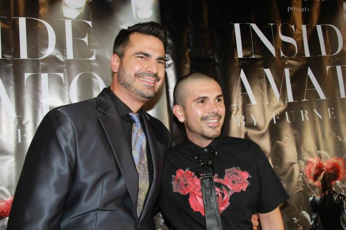 Rocco Leo Gaglioti and Erik Rosete attends 'Inside Amato' New York premiere at Liberty Theater