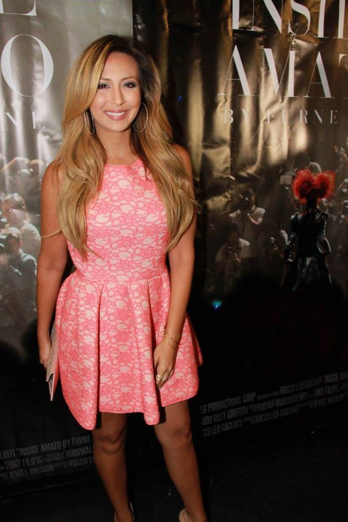 Singer Natascha Bessez attends 'Inside Amato' New York premiere at Liberty Theater