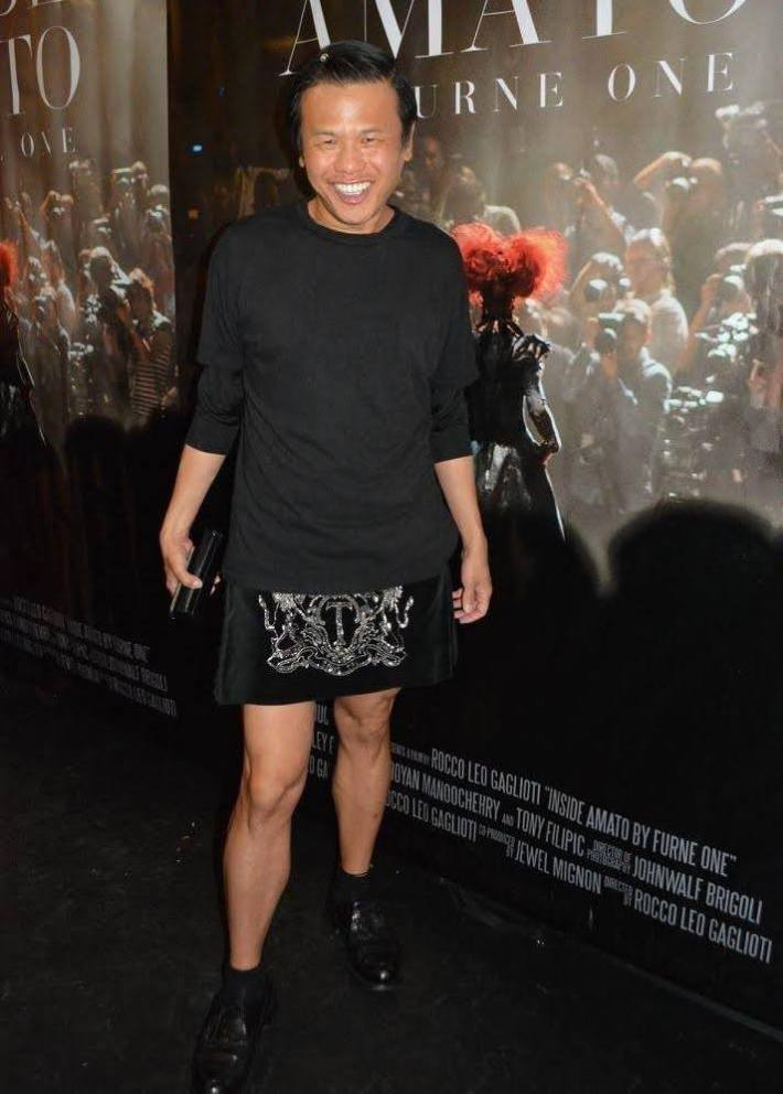 Designer Zang Toi attends 'Inside Amato' New York premiere at Liberty Theater