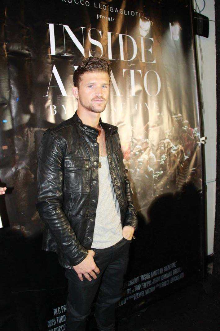 Model  Jamie Clarke attends 'Inside Amato' New York premiere at Liberty Theater