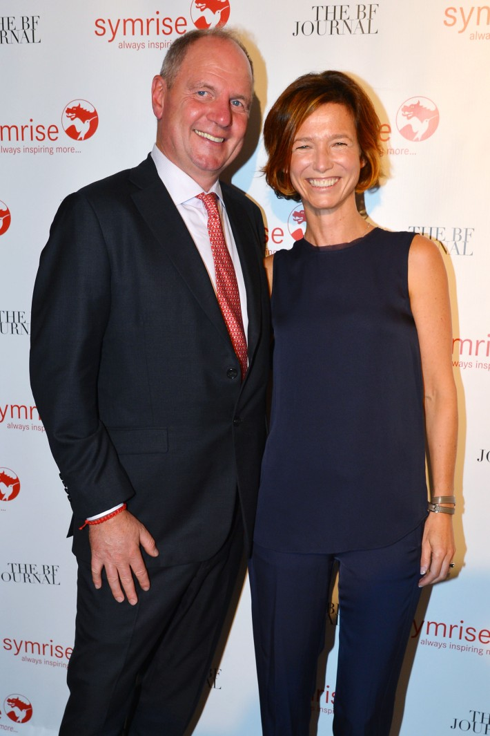 Achim Daub, Emilie Coppermann attend  Symrise New York Studio Opening Hosted by Kick Kennedy, Morgan O'Connor, and Consuelo Vanderbilt Costin (Photo by PatrickMcMullan)