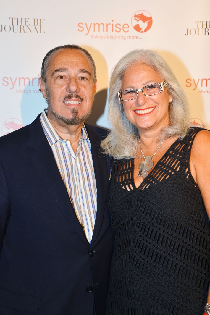 Marc Rosen, Rhona Stokols attend  Symrise New York Studio Opening Hosted by Kick Kennedy, Morgan O'Connor, and Consuelo Vanderbilt Costin (Photo by PatrickMcMullan)