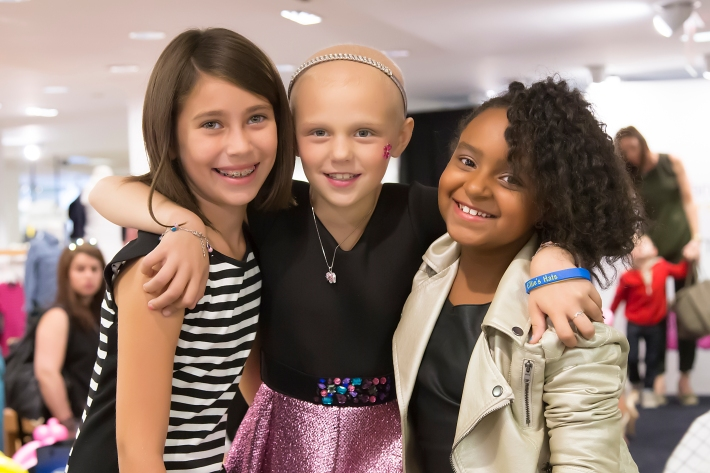 Friend, Tessa Prothero and Olivia Lafond attend RUNWAY HEROES Fashion Show Hosted by Bloomingdale's 59th Street featuring Childhood Cancer Fighters & Survivors