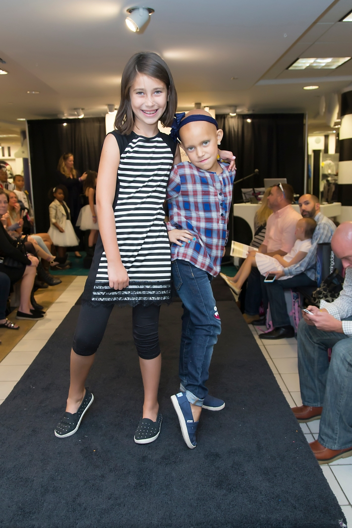 Friend with Kaylee Rios attend RUNWAY HEROES Fashion Show Hosted by Bloomingdale's 59th Street featuring Childhood Cancer Fighters & Survivors