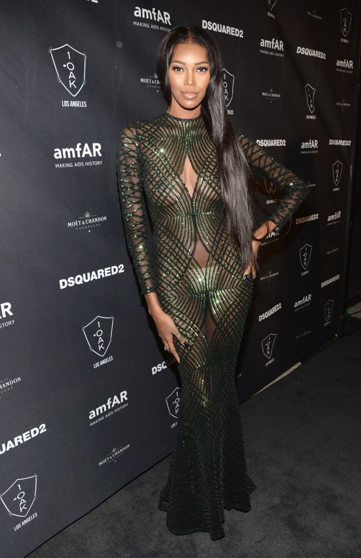 Model Jessica White attends DSQUARED2 And amfAR's Official After Party at 1OAK LA.  (Photo by Michael Kovac)