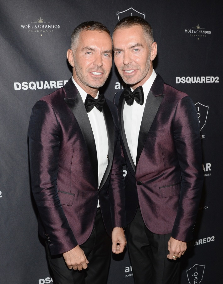 DSQUARED's Dan Caten and Dean Caten attend DSQUARED2 And amfAR's Official After Party at 1OAK LA.   (Photo by Michael Kovac)