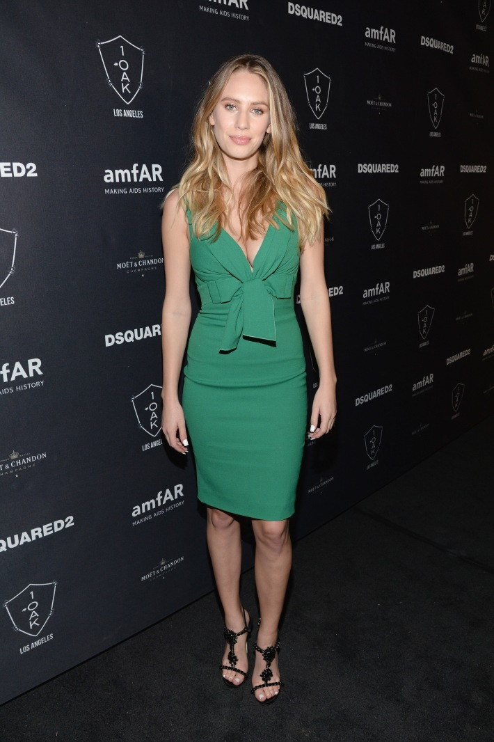 Model/actress Dylan Frances Penn attends  DSQUARED2 And amfAR's Official After Party at 1OAK LA.   (Photo by Michael Kovac)
