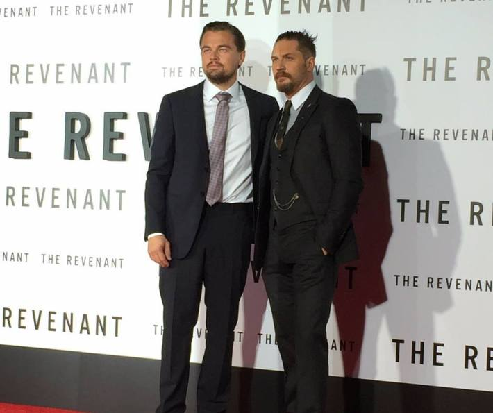 Leonardo DiCaprio and Tom Hardy attend  The Revenant New York City Film Premiere