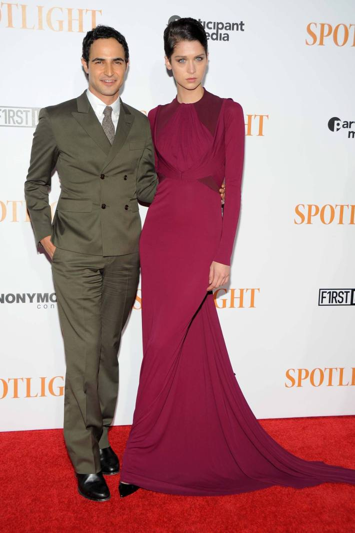 Zac Posen attend the 'Spotlight' New York premiere at Ziegfeld Theater in New York City