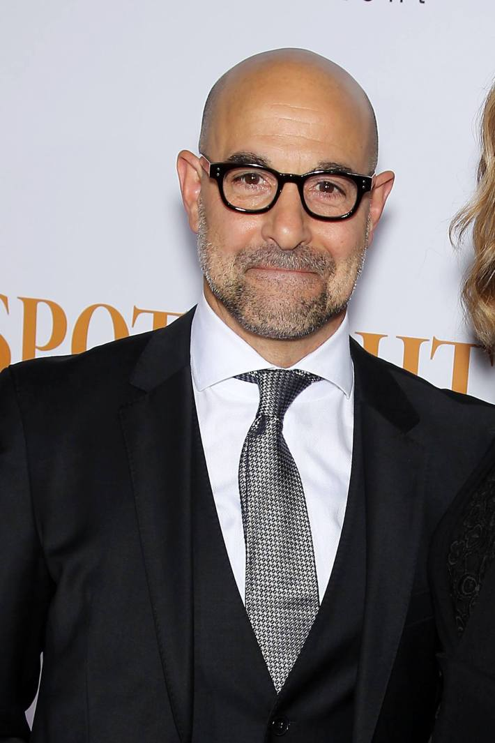 Stanley Tucci attends the 'Spotlight' New York premiere at Ziegfeld Theater in New York City