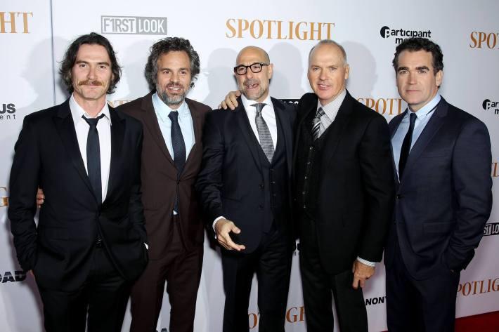Cast attend the 'Spotlight' New York premiere at Ziegfeld Theater in New York City