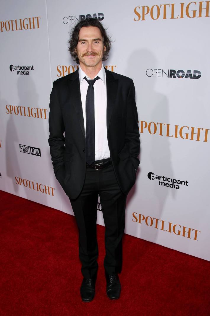 Billy Crudup attends the 'Spotlight' New York premiere at Ziegfeld Theater in New York City