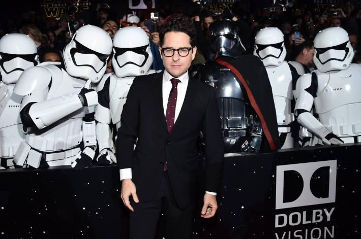Director J.J. Abrams attends the World Premiere of Star Wars: The Force Awakens!