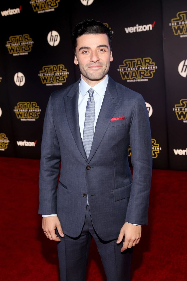 Actor Oscar Isaac attends the World Premiere of Star Wars: The Force Awakens!