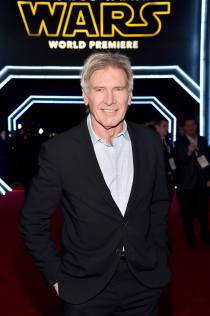 Actor Harrison Ford attends the World Premiere of Star Wars: The Force Awakens!
