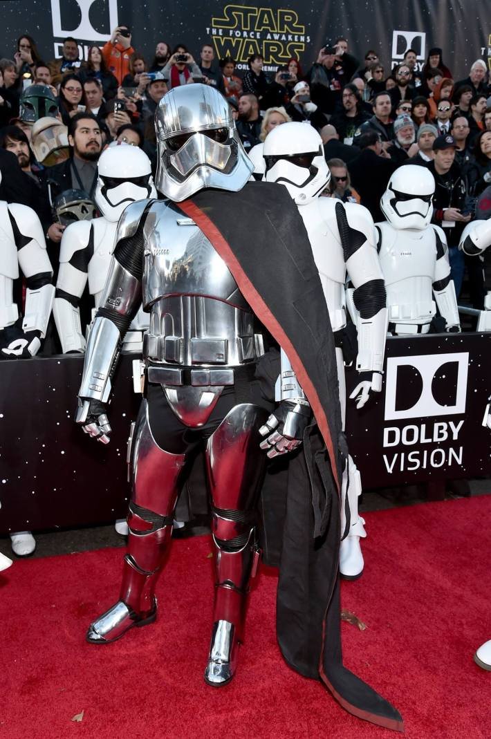 Captain Phasma attends the World Premiere of Star Wars: The Force Awakens!