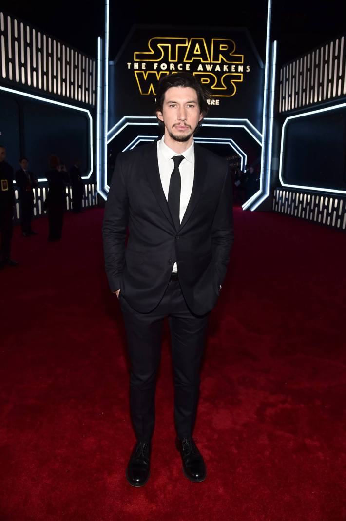 Actor Adam Driver attends the World Premiere of Star Wars: The Force Awakens!