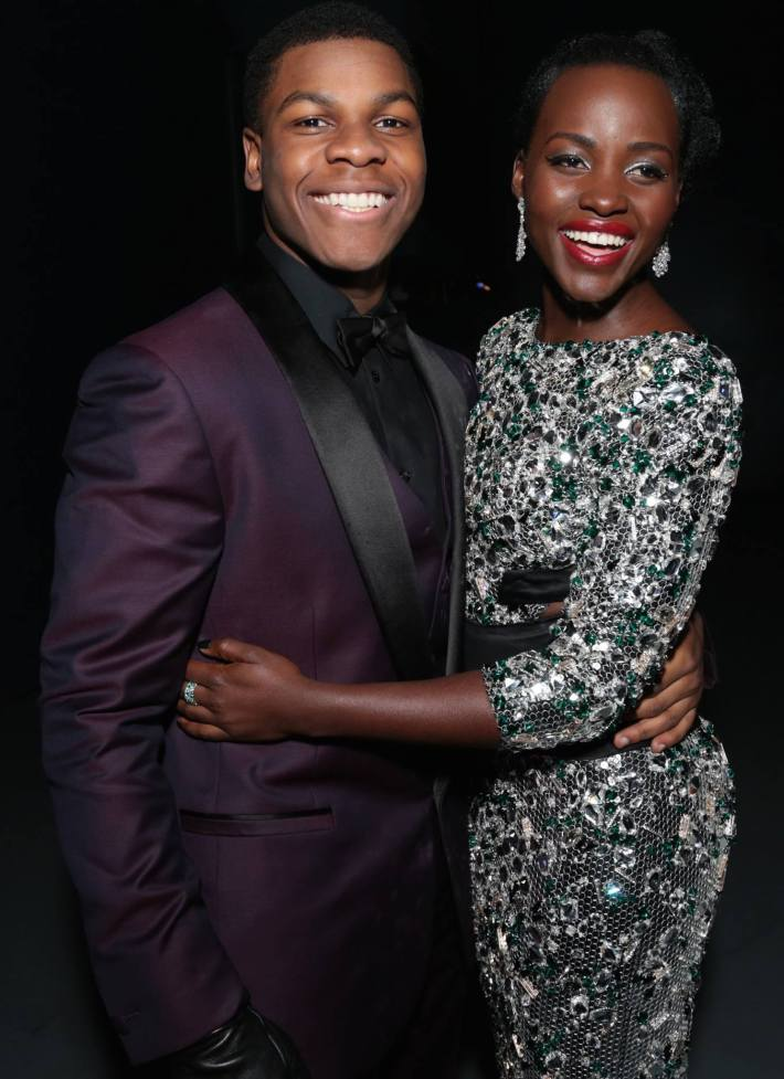 """John Boyega and Lupita Nyong'o pose together as Walt Disney Pictures and Lucasfilm's presents """"Star Wars: The Force Awakens"""""""