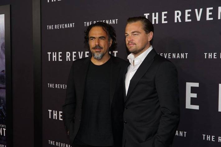 Leonardo DiCaprio and Alejandro G. Iñárritu  attend  The Revenant New York City Film Premiere