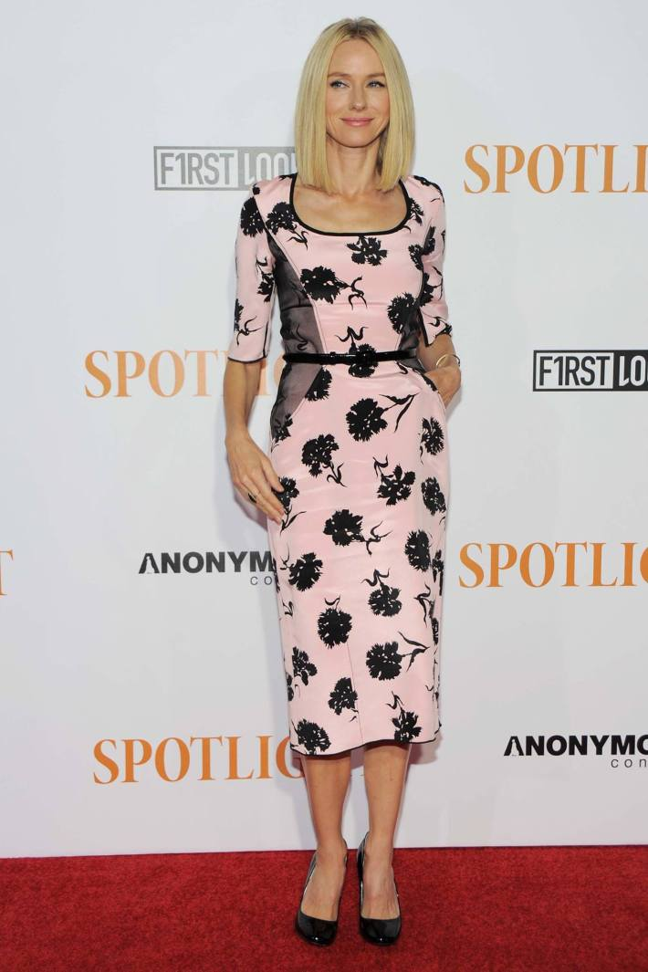 Actress Naomi Watts attends the 'Spotlight' New York premiere at Ziegfeld Theater on October 27, 2015 in New York City