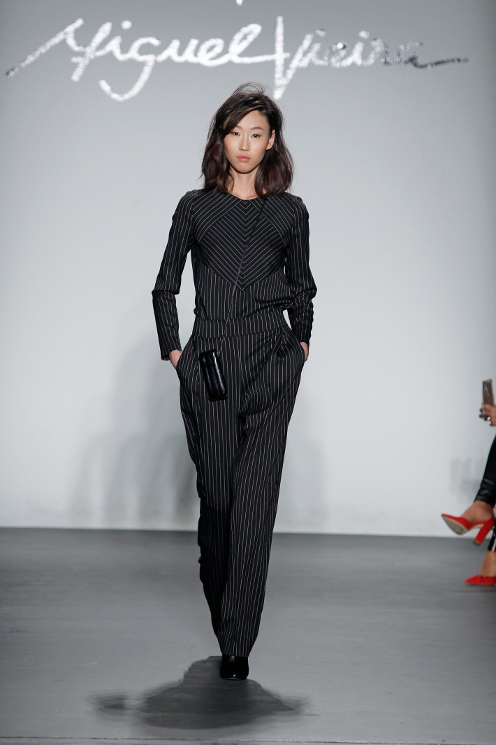 Miguel Vieira Fall/Winter 2017 - New York Fashion Week held in Studio C at Pier 59 Studios Photo by Dan Lecca Photography